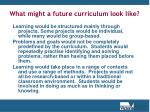 what might a future curriculum look like