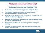 what promotes powerful learning