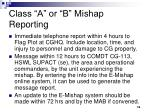 class a or b mishap reporting