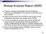 mishap analysis report mar