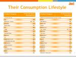 their consumption lifestyle