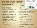dfa and dwa humid continental