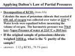 applying dalton s law of partial pressures
