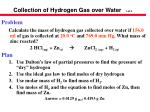 collection of hydrogen gas over water 1 of 3
