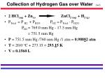 collection of hydrogen gas over water 2 of 3
