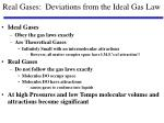 real gases deviations from the ideal gas law