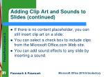 adding clip art and sounds to slides continued1
