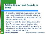 adding clip art and sounds to slides