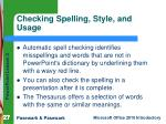 checking spelling style and usage
