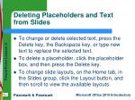 deleting placeholders and text from slides