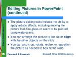 editing pictures in powerpoint continued