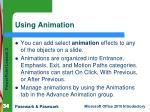 using animation