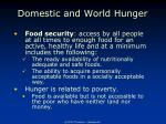 domestic and world hunger1
