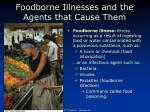 foodborne illnesses and the agents that cause them