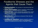 foodborne illnesses and the agents that cause them1