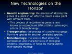 new technologies on the horizon3