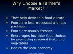 why choose a farmer s market