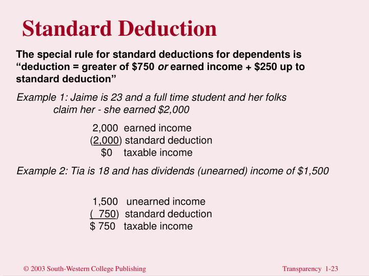 Standard Deduction