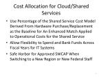 cost allocation for cloud shared services