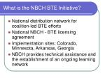 what is the nbch bte initiative