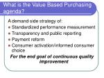 what is the value based purchasing agenda