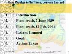 plane crashes in suriname lessons learned1