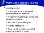 myths about usability testing
