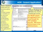 aor submit application