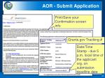 aor submit application3