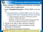 correcting era errors warnings