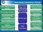 electronic interaction points