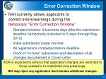 error correction window