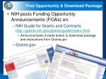 find opportunity download package