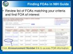 finding foas in nih guide1