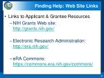 finding help web site links1