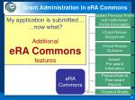 grant administration in era commons