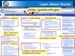 learn about grants