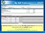 my bib publications in esnap