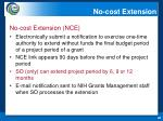 no cost extension