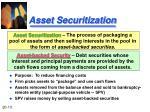 asset securitization