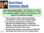 dual class common stock