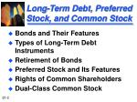 long term debt preferred stock and common stock