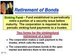 retirement of bonds