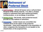 retirement of preferred stock