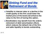 sinking fund and the retirement of bonds1