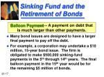 sinking fund and the retirement of bonds2