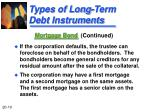 types of long term debt instruments5