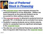 use of preferred stock in financing