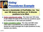 voting procedures example