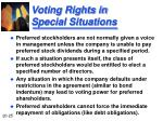 voting rights in special situations